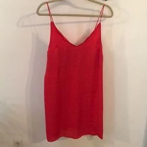 SOLD* Topshop Scallop edge slip dress